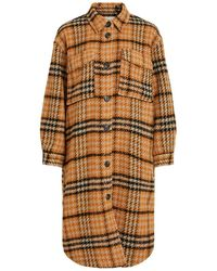 Object Lola Long Coat - Oranje