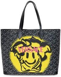Versace Medusa Smiley Shopper Bag - Grijs