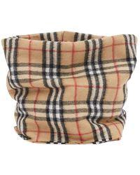 Burberry Vintage Check Cashmere Neck Cover - Naturel