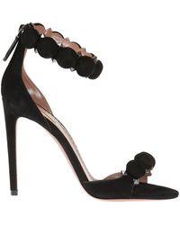 Alaïa Suede High Heel Sandals - Zwart