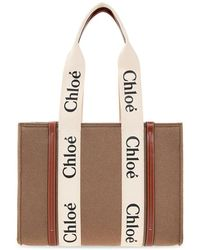 Chloé Woody Medium Shopper Bag - Bruin