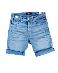 Replay Bermuda Shorts - Blauw