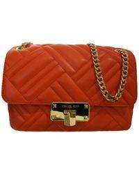 Michael Kors Peyton Medium Shoulder Flap Bag - Oranje