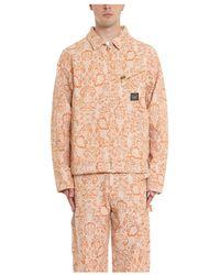 Aries Floral 191 Jacket - Orange