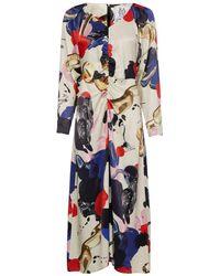 Zoe Karssen Jori Paint Print Dress - Wit