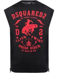 DSquared² Slechte Cowboy T-shirt - Zwart