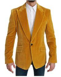 Dolce & Gabbana Fit Jacket Sicilia Blazer - Gelb
