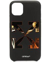 Off-White c/o Virgil Abloh Caravaggio Arrow Iphone 11 Case - Zwart
