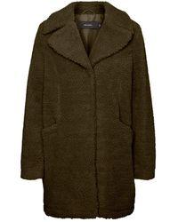 Vero Moda Vmdonna Teddy 3/4 Jacket Boos - Groen