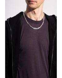 Rick Owens Collar de plata Gris