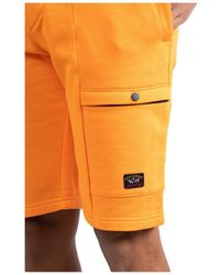 Paul & Shark Logo patch cargo shorts Naranja