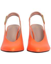 Balmain Tara leather pumps - Naranja