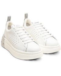 RED Valentino Tulle Effect Sneaker - Blanc