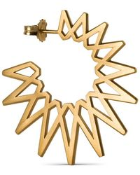 Jane Kønig Sun Earring, gold-plated sterling silver - Giallo