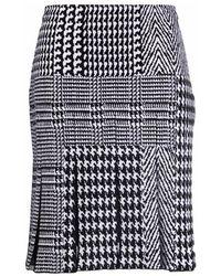 Ermanno Scervino High-waisted Skirt Featuring Herringbone Print - Zwart