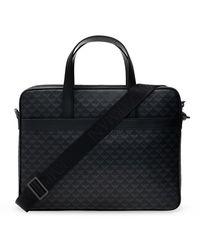 Emporio Armani Laptop Bag With Logo - Zwart