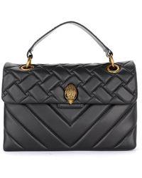 Kurt Geiger Kensington Shoulder Bag In Black Quilted Leather - Zwart