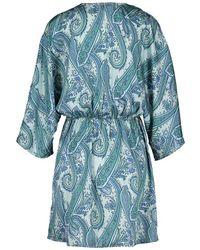 Silvian Heach Deseno Dress Paisley Print Azul