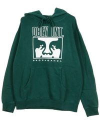 Obey INT Icon Face Custom Pigment Hoodie - Grün