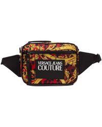 Versace Jeans Belt Bum Bag Hip Pouch Logo Baroque - Rood