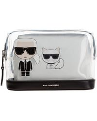 Karl Lagerfeld Travel makeup beauty case K/Ikonik - Noir