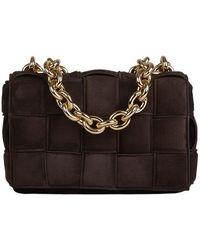 Bottega Veneta Suede Chain Casette Bag - Bruin