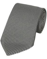 Tom Ford Geometrische Druk Tie - Zwart