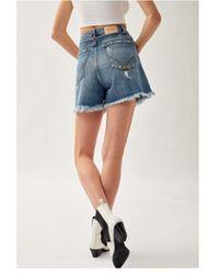 Roy Rogers Shorts Girlfriend Imla IN Denim P21Rnd107D3801135 Azul