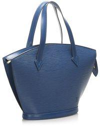 Louis Vuitton Epi Saint Jacques PM Bracelet Courte Cuir - Bleu
