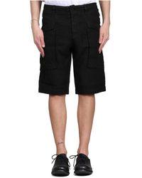 Transit Linen Shorts - Zwart