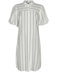 iN FRONT Shirt Dress 14436 - Blanc