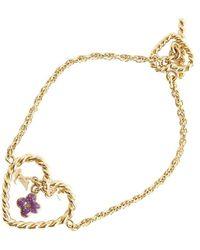 Louis Vuitton Heart Charm Bracelet - Jaune