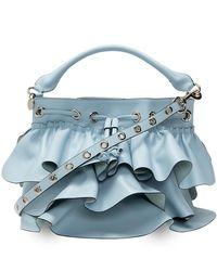 RED Valentino Valentino Garavani Rock Ruffles Bucket Bag - Blauw