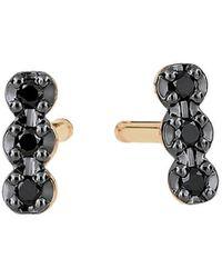 Ginette NY - Black Diamond Earrings - Lyst