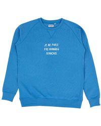 Cheaque Je Ne Parle Pas Franses Sweater - Blauw