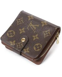 Louis Vuitton Portefeuille Compact Zip PM - Marron