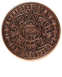 Midgard Paris Mayan Calendar brass ring - Braun