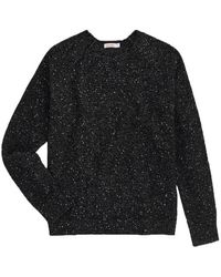 Sun 68 Crewneck sweater in glitter wool - K40214-11 - Noir