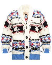 N°21 Rib-knit Cardigan - Wit