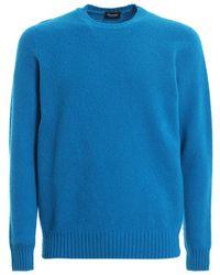 Drumohr Wool Round Neck - Blauw
