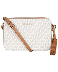 Michael Kors Medium Camera Bag - Wit