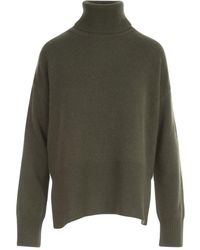 P.A.R.O.S.H. Long Turtle Neck Sweater - Groen
