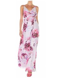 Guess Wrap dress with floral print - Rosa