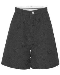 Custommade• Pantaloncini Vita Alta - Zwart
