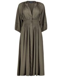 French Connection Clenched Waist Midi Dress - Grijs
