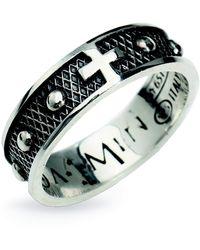 Amen Anello Croce Rosario - Grijs