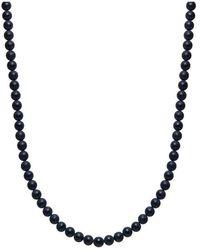Nialaya Men's Beaded Matte Onyx Necklace - Zwart