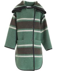 Philosophy Di Lorenzo Serafini Striped Coat - Groen