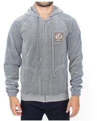 Roberto Cavalli Zipper Hooded Sweater - Grijs