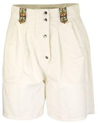 Etro Shorts H Embroidery - Wit
